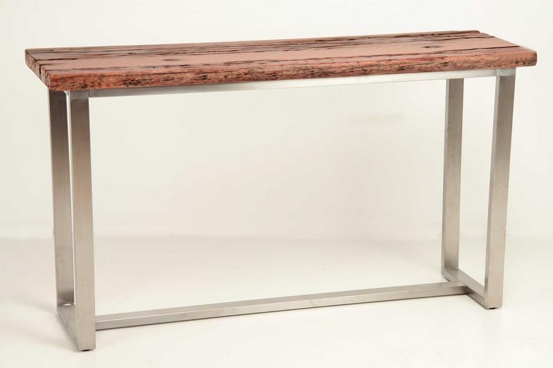 Consola aluminio madera eve blog de artesania y decoracion - Mueble recibidor madera ...