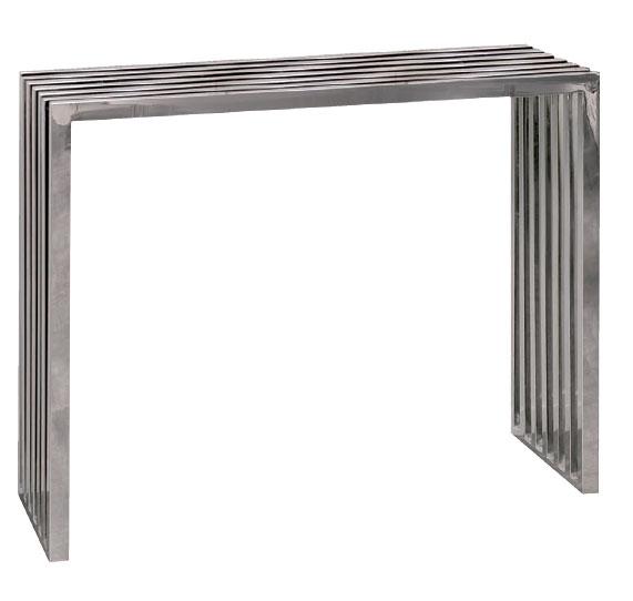 consola recibidor barrotes, consola de acero, consola para entrada, mueble recibidor acero, mueble moderno