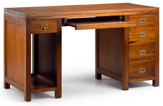 Escritorio torre 5 cajones flamingo blog de artesania y - Mesa escritorio colonial ...