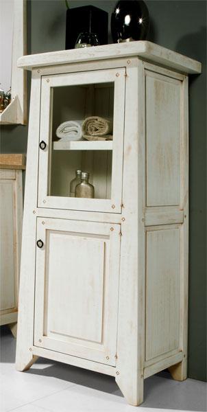 baño, vitrina blanca, alacena blanca, alacena rustica, mueble rustico