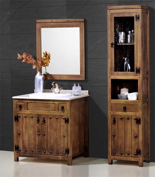 Baños Rusticos El Mueble: pila de lavabo, mueble de baño, mueble de aseo, mueble rustico aseo
