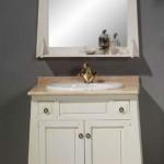 Cajonera baño, mueble aseo, pila de lavabo rustica, mueble lavabo blanco