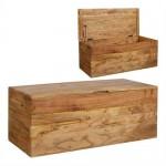 Bancos y ba les madera con coj n blog de artesania y for Baul madera barato