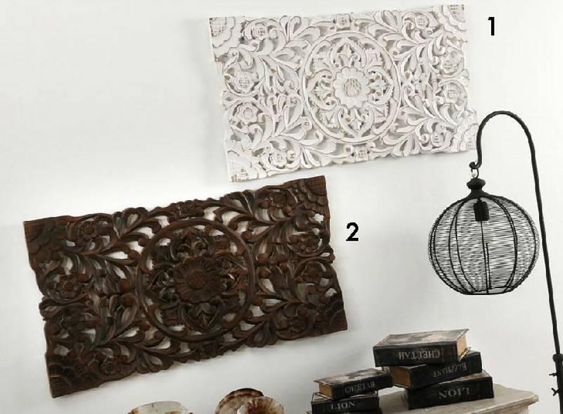 Cuadro panel tallado 2 colores blog de artesania y decoracion - Paneles decorativos madera tallada ...