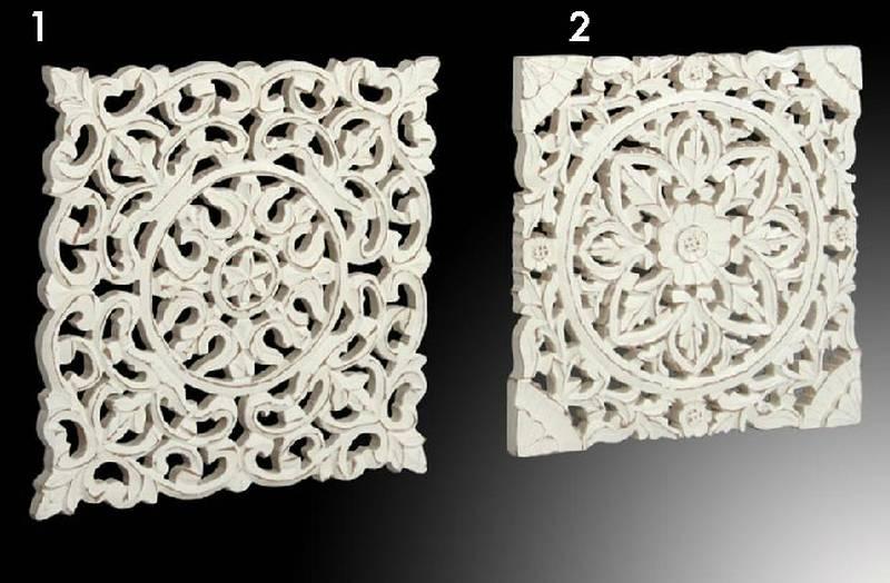 Panel tallado blanco en 2 acabados blog de artesania y decoracion - Paneles decorativos madera tallada ...