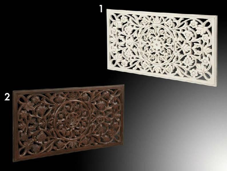 Panel tallado blanco y nogal floral blog de artesania y decoracion - Paneles decorativos madera tallada ...