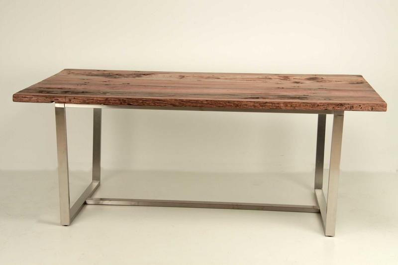 Mesa comedor aluminio madera eve blog de artesania y for Mesa madera antigua