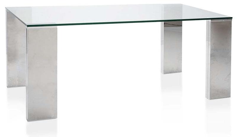 Mesa cristal aluminio efecto espejo blog de artesania y - Mesas de forja y cristal ...
