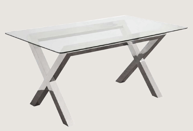 Mesas comedor cristal y acero images - Mesas acero y cristal ...