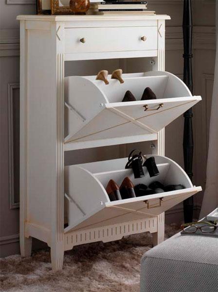 Mueble zapatero rombo 3 acabados blog de artesania y decoracion - Mueble zapatero para recibidor ...