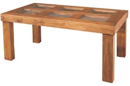 Mesa comedor grande rustica cristales blog de artesania - Cristales para mesas redondas ...
