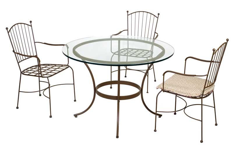 Cojunto mallorca 4 sillones y 1 mesa forja blog de for Sillas de forja para jardin