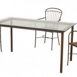 Conjunto 4 sillas y mesa forja