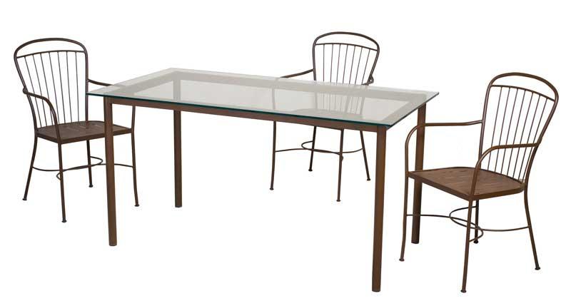 Conjunto menorca 4 sillones y mesa forja blog de for Sillas de forja para jardin