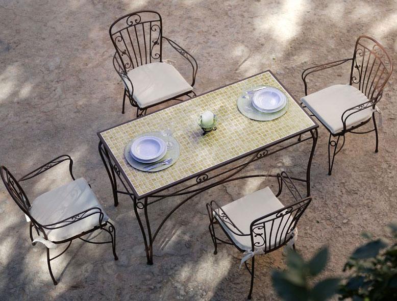 Conjunto mesa ceramica y 4 sillas sevilla blog de - Mesas de forja en sevilla ...