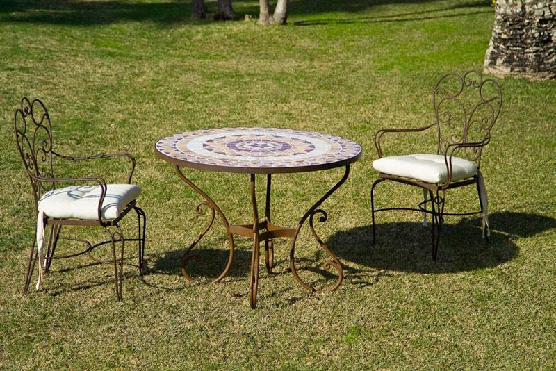 Conjunto mesa toledo y 4 sillones blog de artesania y - Conjuntos de terraza y jardin ...