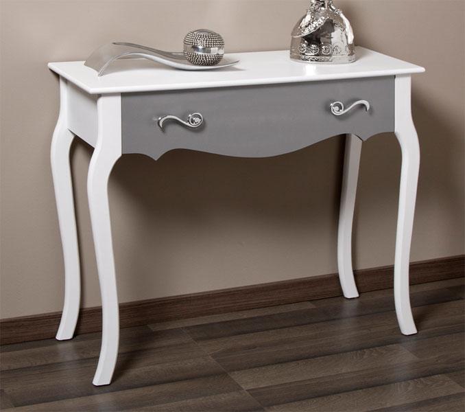 Consola bicolor blanco plata design blog de artesania y - Sillones para recibidor ...