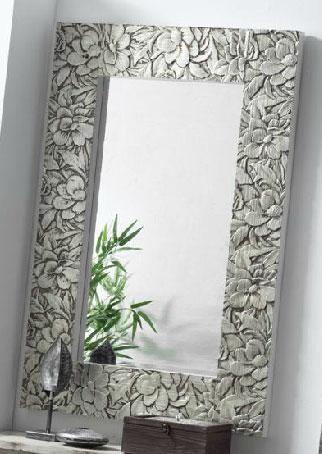 Espejo tallado madera plata ogos blog de artesania y for Espejo grande blanco