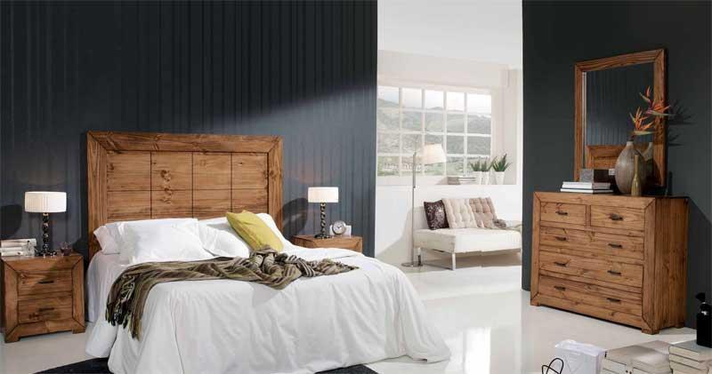 Dormitorio completo rustico terrak blog de artesania y for Dormitorio rustico