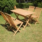 Mesa y 4 sillas teca