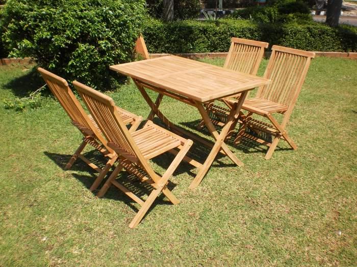 Conjunto mesa y 4 sillas teca aquarek blog de artesania - Muebles de teca para jardin ...