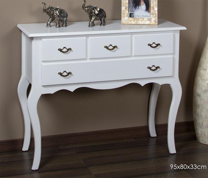 Consola 4 cajones blanca design blog de artesania y decoracion - Muebles de entrada blancos ...