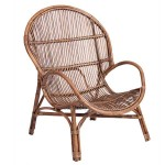Sillon Rattan Marron Bajo