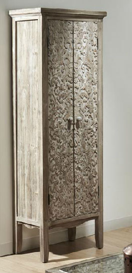Armario decape blanco tallado tapiche blog de artesania for Armario estrecho bano