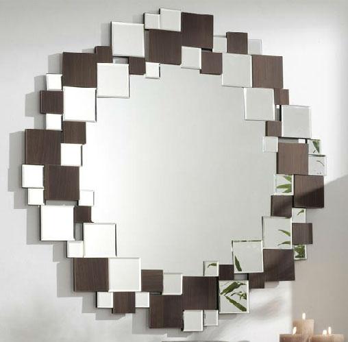 Espejo circular cristales boran blog de artesania y - Espejos modernos salon ...