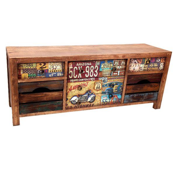 Mueble television 7 cajones colores nantes blog de - Muebles tv vintage baratos ...