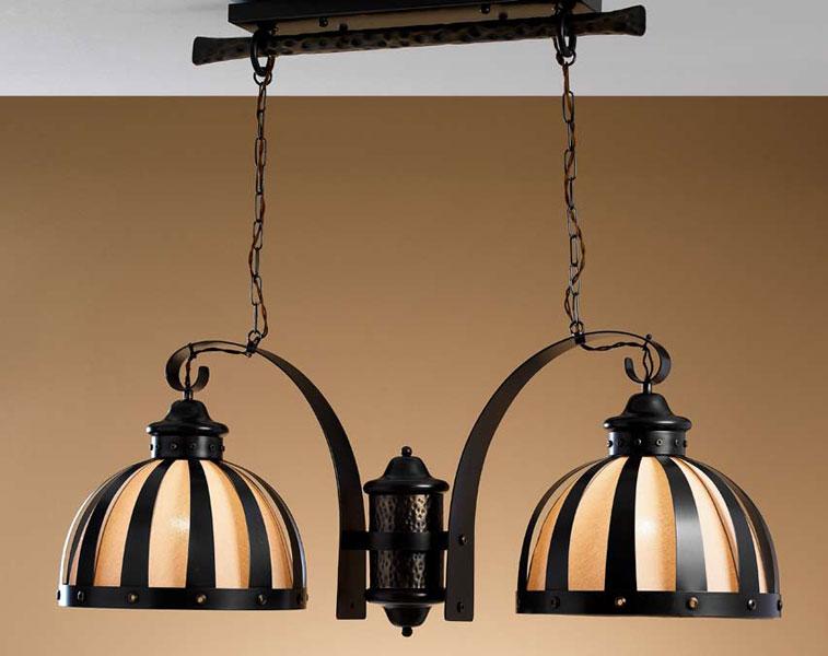 Lampara techo armada 2 brazos blog de artesania y decoracion - Lamparas estilo colonial ...
