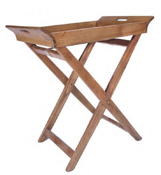 Mesa auxiliar bandeja roble abelas blog de artesania y - Mesa auxiliar bandeja ...