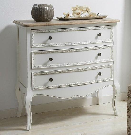 Comoda 3 cajones bicolor enya blog de artesania y decoracion - Comoda malm 3 cajones ...