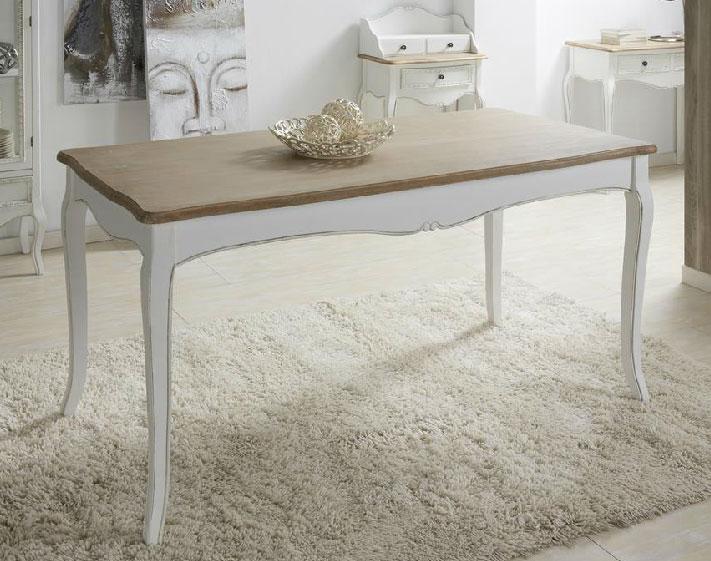 Mesa comedor blanca nogal enya blog de artesania y for Mesa comedor blanca