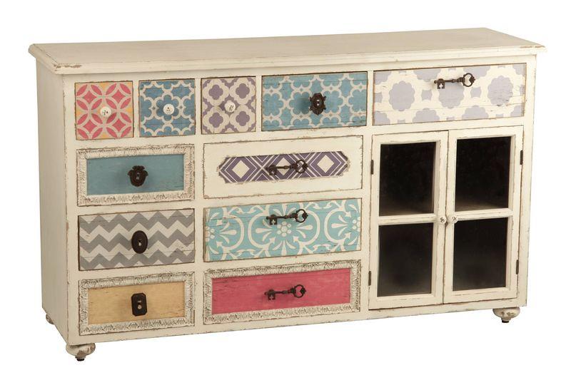 Aparador comoda colores aguadel blog de artesania y for Muebles pintados de colores