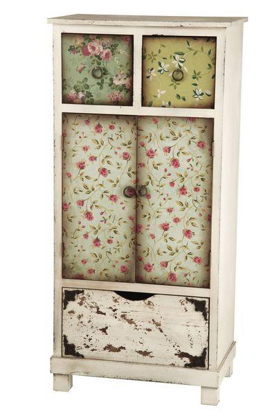 Armario puertas cajon papel pintado aguadel blog de - Muebles de colores pintados ...