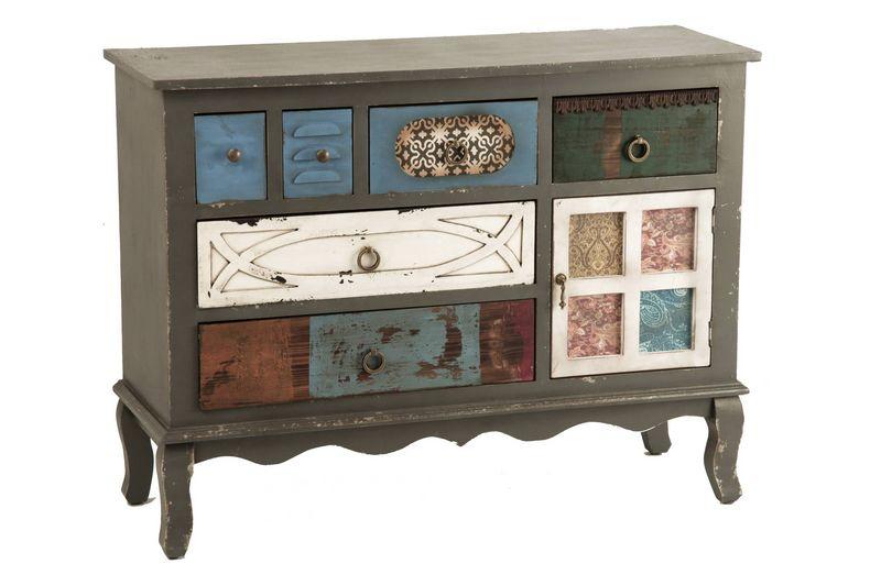Comoda cajones de colores aguadel blog de artesania y decoracion - Muebles auxiliares merkamueble ...