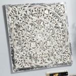 Panel Tallado blanco plata