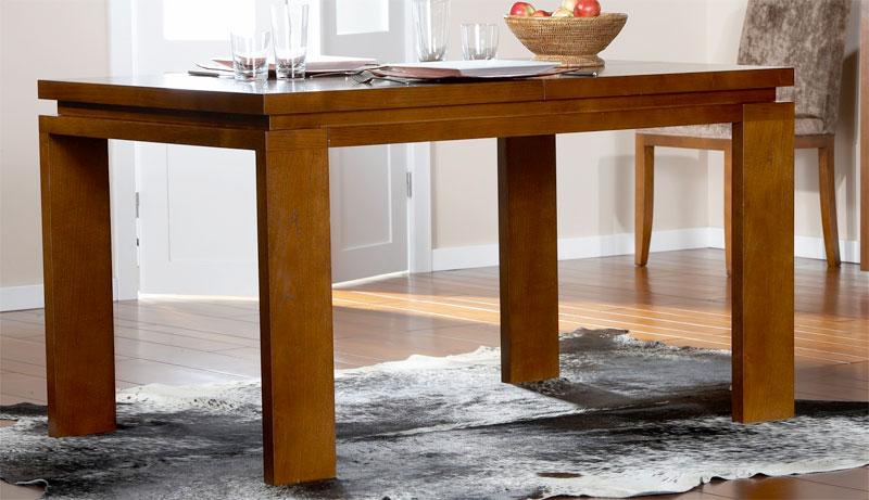Mesa comedor gabriel extensible blog de artesania y - Mesa comedor cristal y madera ...