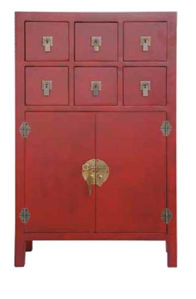 Recibidor 6 Cajones 2 Puertas Oriental Rojo Abye  Blog de artesania y