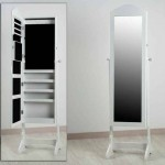 Espejo Joyero Pie Blanco Alaro