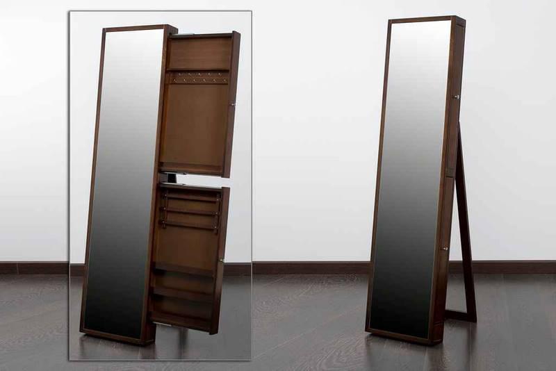 Espejo vestidor con cajones para joyero nogal alaro blog for Espejos de pie precios