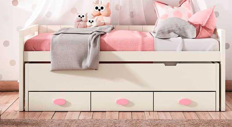 Cama doble juvenil con cajones abito blog de artesania y for Precio cama nido doble con cajones