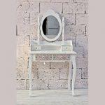 Mueble Tocador Blanco Cajones Decorados Banisan