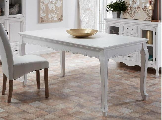 Mesa comedor blanca camille blog de artesania y decoracion for Mesa comedor ovalada blanca