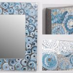 Espejo Mosaico Circulos Azul Amour