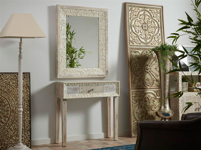 Espejo peque o tallado giena blog de artesania y decoracion - Artesania y decoracion ...