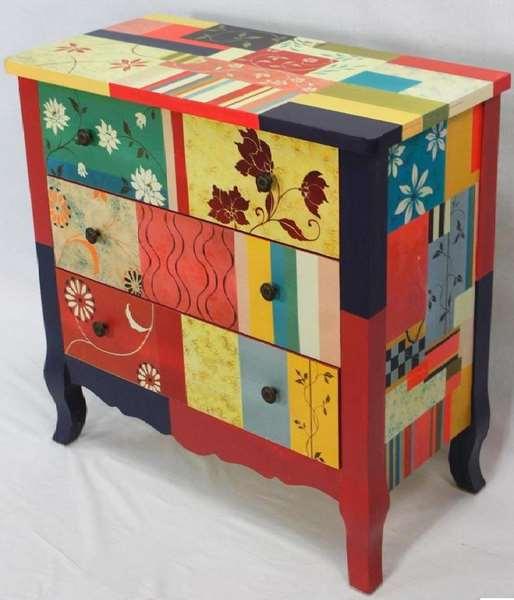 Comoda 4 cajones decorados beltia blog de artesania y - Artesania y decoracion ...