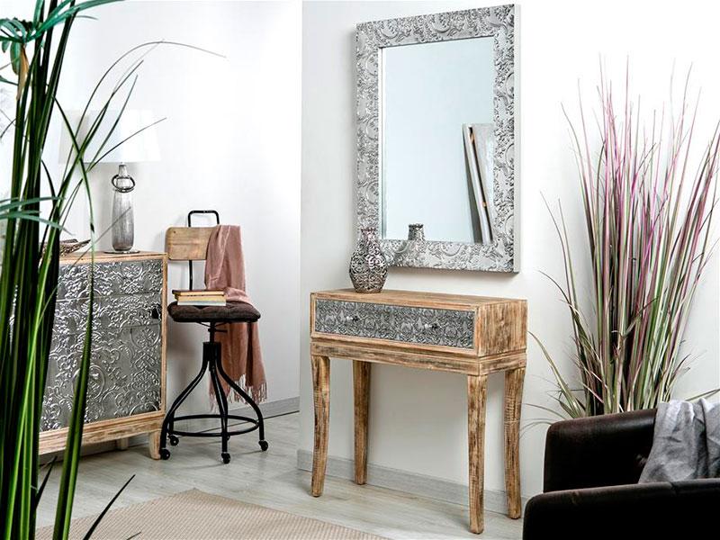 Consola recibidor madera plata adrienne blog de - Artesania y decoracion ...