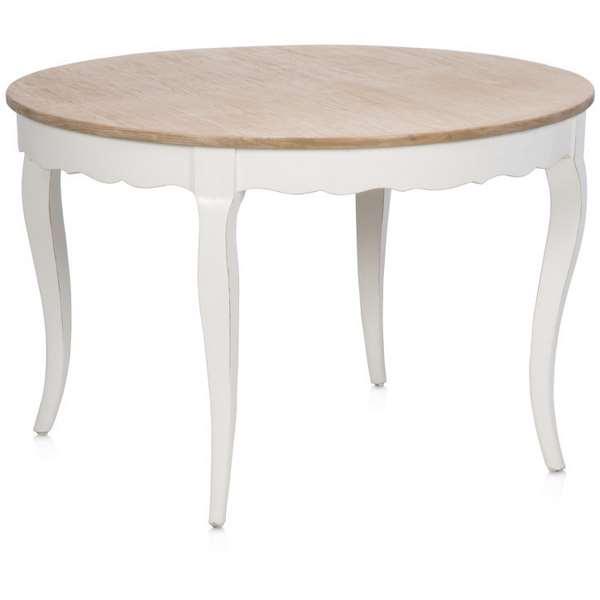 Mesa comedor redonda blanca roble haix blog de artesania for Mesas de comedor madera blanca